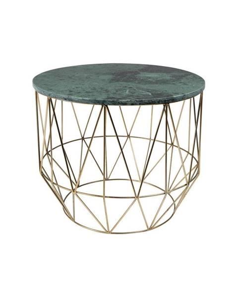 Dutchbone Odkladací stolík s mramorovou doskou Dutchbone, ⌀ 51 cm