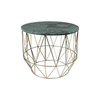 Odkladací stolík s mramorovou doskou Dutchbone, ⌀ 51 cm