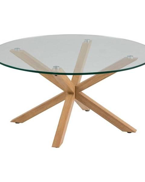 Actona Príručný stolík so sklenenou doskou Actona Heaven, ⌀ 82 cm