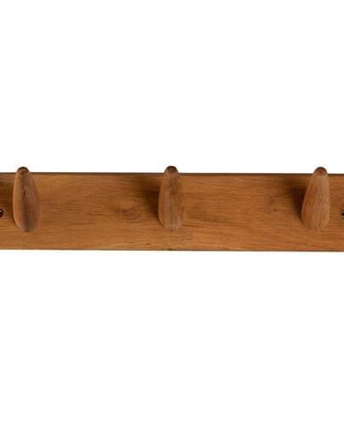 Nástenný vešiak z masívneho dubového dreva Canett Uno, dĺžka 40 cm