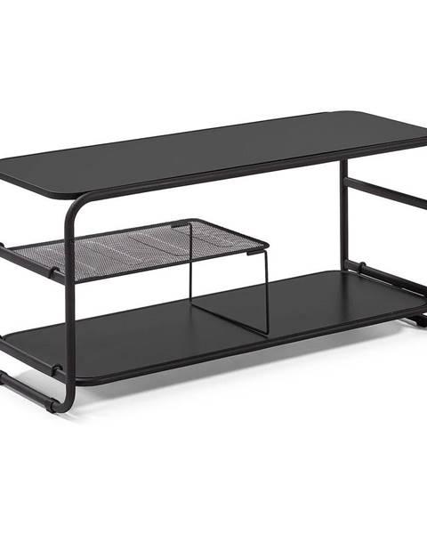 La Forma Čierny televízny stolík La Forma Academy, 98 × 46 cm