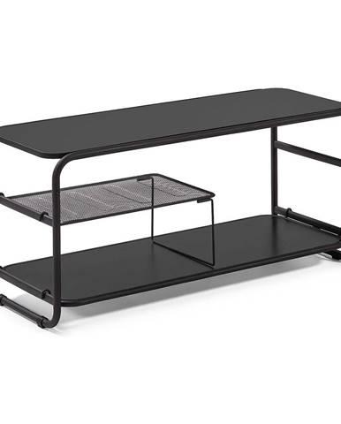 Čierny televízny stolík La Forma Academy, 98 × 46 cm