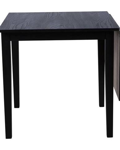Čierny rozkladací jedálenský stôl z dubového dreva Canett Salford, 75 x 75 cm
