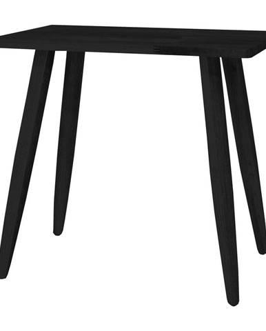 Čierna stolička z dubového dreva Canett Uno