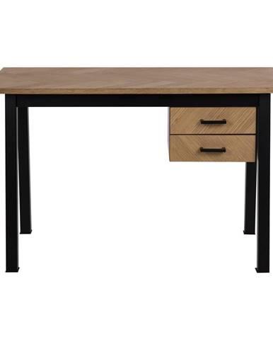 Pracovný stôl v dubovom dekore Actona Brighton Herringbone