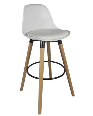 Barová stolička biela/buk EVANS