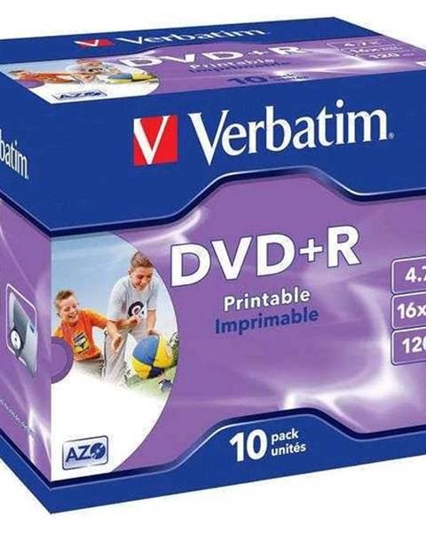 Verbatim Disk Verbatim Printable DVD+R 4,7GB, 16x, jewel box, 10ks