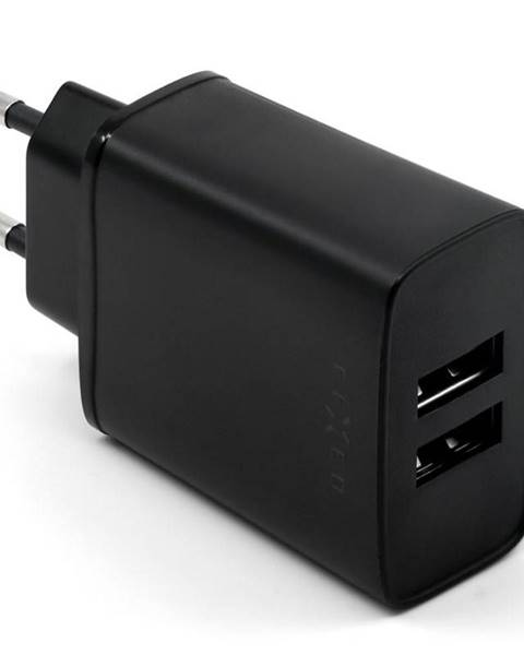 FIXED Nabíjačka do siete Fixed 2xUSB, 15W Smart Rapid Charge čierna