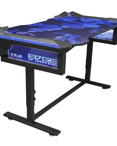 Herný stôl E-Blue 135x78,5 cm, RGB podsvícení, výškově nastavitelný