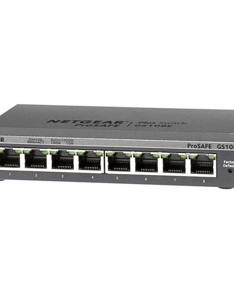 NETGEAR Switch Netgear GS108Ev3 sivý