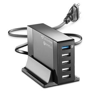 Nabíjačka do siete CellularLine Energy Station QC 3.0, 5 x USB, max