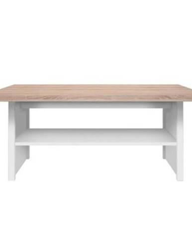 Konferenčný stolík 115 biela/dub sonoma TOPTY TYP 18