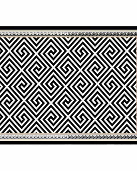 Kondela Koberec čierno-biely vzor 80x150 MOTIVE