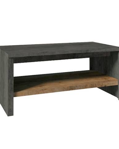Konferenčný stolík ST dub lefkas tmavý/smooth sivý MONTANA