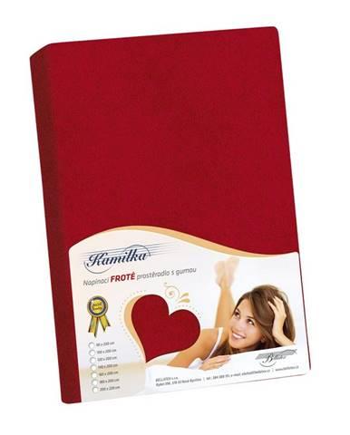 Bellatex Froté prestieradlo Kamilka červená, 90 x 200 cm