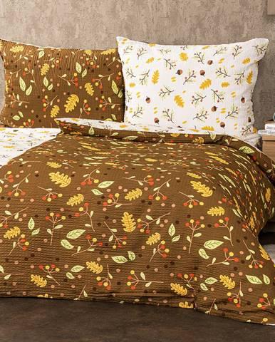 4Home Krepové obliečky Jeseň, 140 x 220 cm, 70 x 90 cm