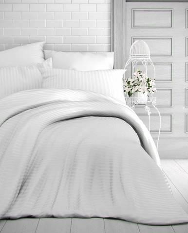 Kvalitex Saténové obliečky Stripe biela, 140 x 200 cm, 70 x 90 cm