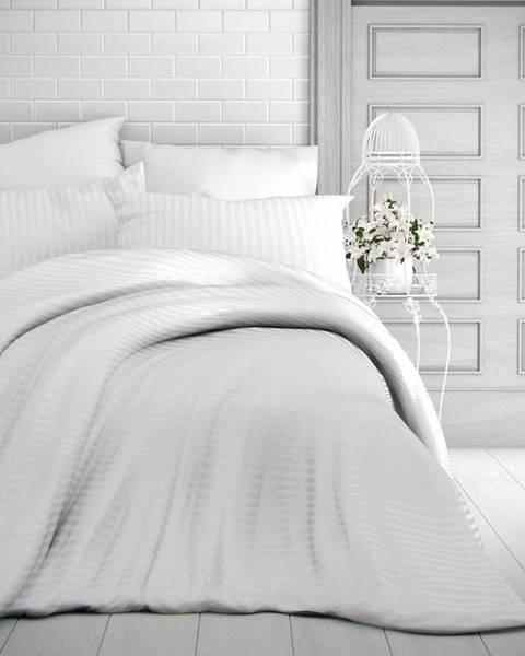 Kvalitex Kvalitex Saténové obliečky Stripe biela, 200 x 200 cm, 2 ks 70 x 90 cm
