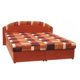 Manželská posteľ molitanová oranžová/vzor KASVO
