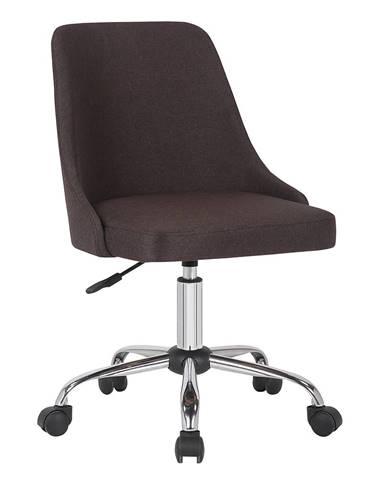 Kancelárska stolička hnedá/chróm EDIZ