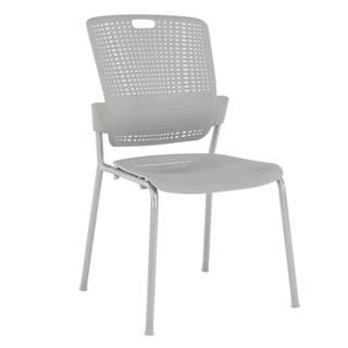 Stohovateľná stolička sivá NERGIS rozbalený tovar