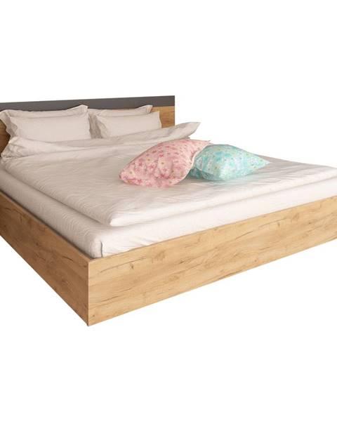 Tempo Kondela Manželská posteľ 160x200 dub artisan/grafit GABRIELA