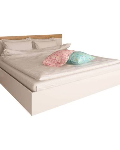 Manželská posteľ 160x200 biela/dub artisan GABRIELA