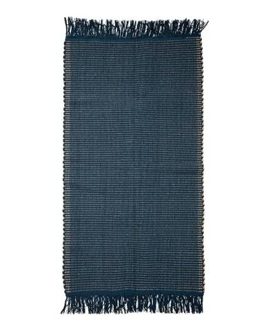 Tmavomodrý bavlnený koberec Bloomingville Kids, 80 x 160 cm