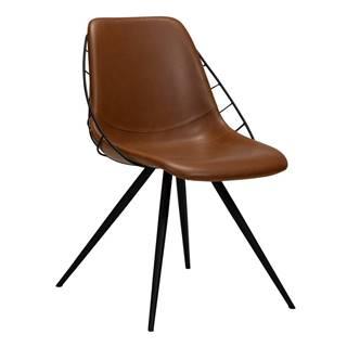 Hnedá jedálenská stolička v imitácii kože DAN-FORM Denmark Sway