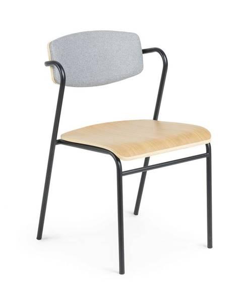 La Forma Jedálenská stolička v dekore dubového dreva La Forma Zaha