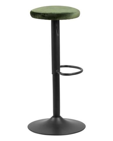 Barová stolička so zeleným polstrovaním Actona Finch