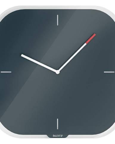 Sivé nástenné popisovacie hodiny Leitz Cosy