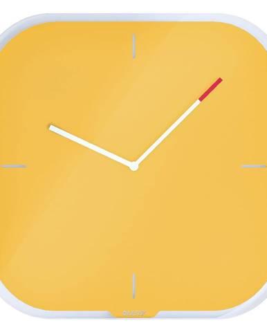 Žlté nástenné popisovacie hodiny Leitz Cosy