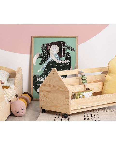 Adeko Pojazdný úložný box z borovicového dreva Adeko Kutu Alma, 80 cm