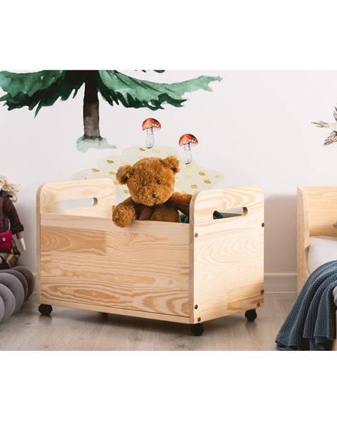 Adeko Pojazdný úložný box z borovicového dreva Adeko Kutu Bella, 60 cm