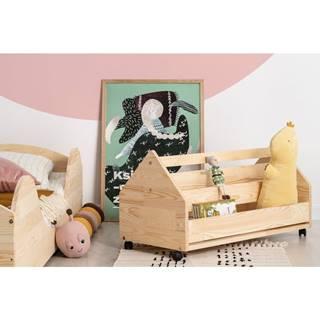 Pojazdný úložný box z borovicového dreva Adeko Kutu Alma, 80 cm