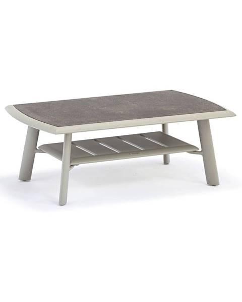 Ezeis Sivý hliníkový konferenčný záhradný stôl s HPL doskou Ezeis Spring