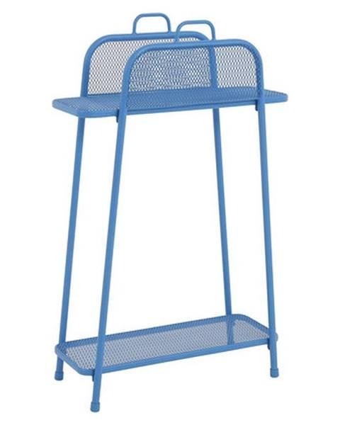 ADDU Modrá kovová polica na balkón ADDU MWH, výška 105,5 cm