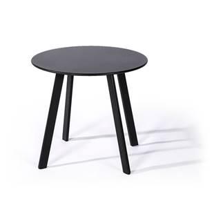 Sivý záhradný stôl Le Bonom Full Steel, ø50cm