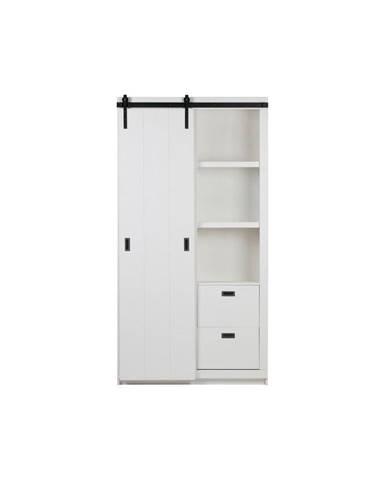 Biela skriňa s posuvnými dverami vtwonen Slide