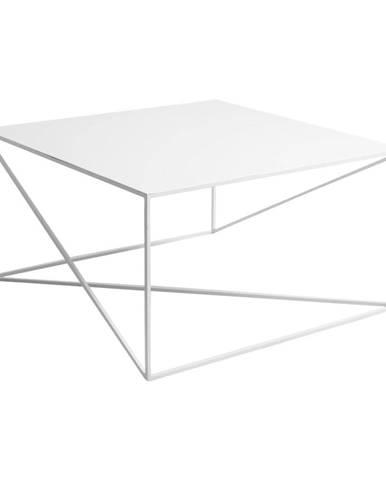 Biely konferenčný stolík Custom Form Memo, 100 × 100 cm