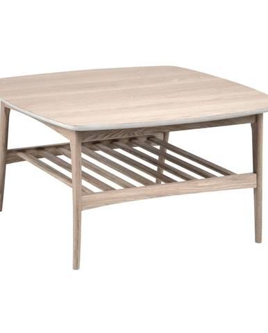Konferenčný stolík s podnožím z dubového dreva Actona Woodstock, 80 x 80 cm