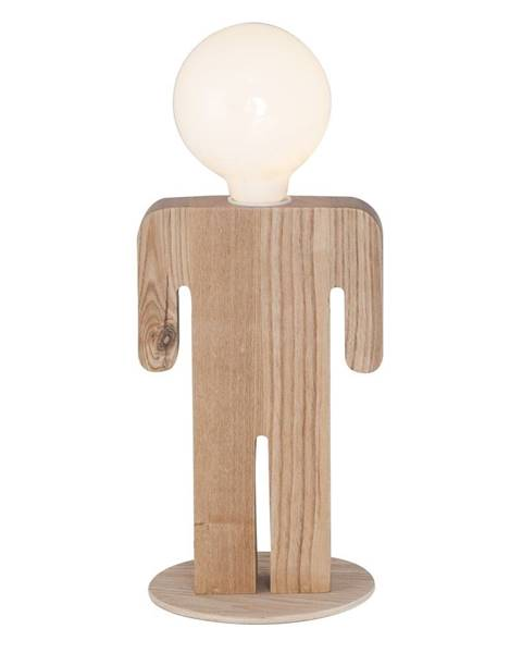 Homemania Decor Drevená stolová lampa Homemania Christian