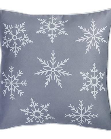 Sivá obliečka na vankúš s vianočným motívom Mike&Co.NEWYORK Honey Snowflake, 45 × 45 cm