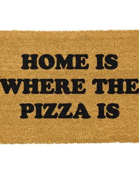 Artsy Doormats Rohožka z prírodného kokosového vlákna Artsy Doormats Home Is Where the Pizza Is, 40 x 60 cm
