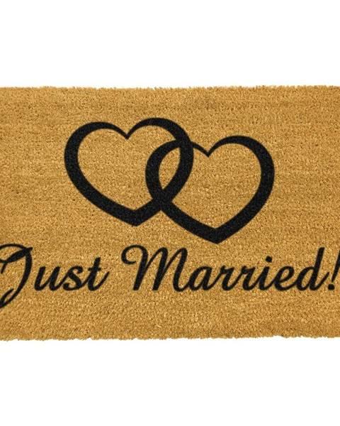 Artsy Doormats Rohožka z prírodného kokosového vlákna Artsy Doormats Just Married, 40 x 60 cm