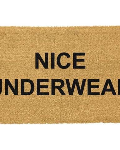 Rohožka z prírodného kokosového vlákna Artsy Doormats Nice Underwear, 40 x 60 cm