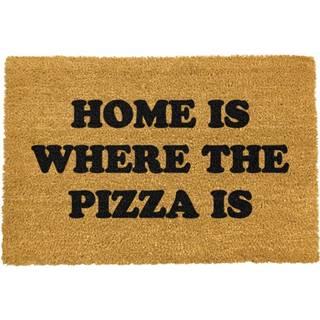 Rohožka z prírodného kokosového vlákna Artsy Doormats Home Is Where the Pizza Is, 40 x 60 cm