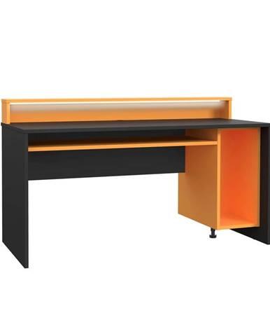 Herný Stôl Tezaur Oranžová/čierna Tezaur Š:160cm