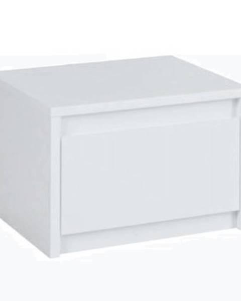 Kondela 2x nočný stolík biela/extra vysoký lesk HG ITALIA